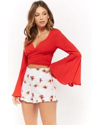Forever 21 - Ruffle-trim Floral Print Shorts - Lyst