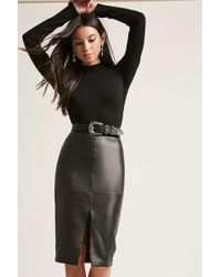 Forever 21   Faux Leather Pencil Skirt   Lyst