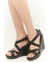 Forever 21 - Faux Nubuck Leather Wedges - Lyst