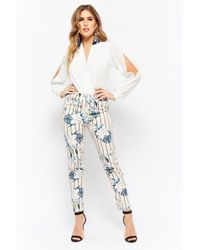 Forever 21 - Floral Striped Trousers - Lyst