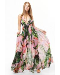 Forever 21 - Tropical Floral Print Maxi Dress - Lyst