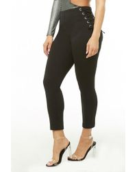 Forever 21 - Women's Lace-up Ponte Leggings - Lyst