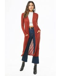 Forever 21 - Ribbed Longline Cardigan - Lyst