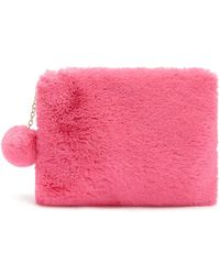 Forever 21 - Faux Fur Pom Pom Pouch - Lyst