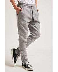 Forever 21 - Marled Ankle Zip Sweatpants - Lyst