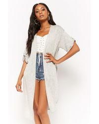 Forever 21 - Open-front Short Sleeve Cardigan - Lyst