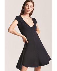 beb2e7577b Forever 21 Buttoned-pocket Shirt Dress in Black - Lyst