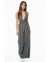 Forever 21 - Striped Wide-leg Jumpsuit - Lyst