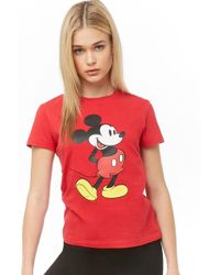 239839de2ad Forever 21 - Mickey Mouse Graphic Tee - Lyst