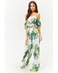 Forever 21 - Tropical Floral Palazzo Trousers - Lyst