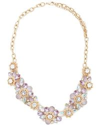 Forever 21 - Women's Floral Cluster Statement Necklace - Lyst