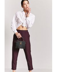 Forever 21 - Striped Ankle Pants - Lyst