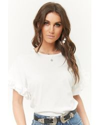 Forever 21 - Ruffle-sleeve Top - Lyst