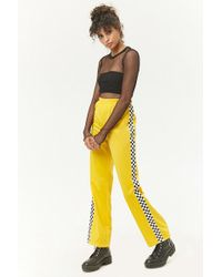 Forever 21 - Checkered-panel Sweatpants - Lyst