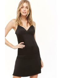 b7f1400e Forever 21 Sequined Velvet Bodycon Dress in Black - Lyst