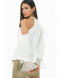 Forever 21 - Flounce Open-shoulder Top - Lyst