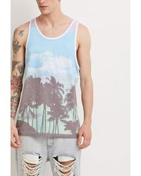 Forever 21 - Tropical Print Tank - Lyst