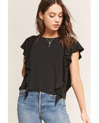 Forever 21 - Knit Ruffle Top - Lyst