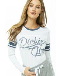 3e27f4da33 Forever 21 - Dickies Girl Graphic Burnout Varsity Top - Lyst