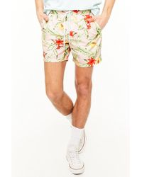 Forever 21 - Tropical Floral Print Swim Trunks - Lyst