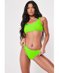 Missguided Neon Bikini Top At , Lime