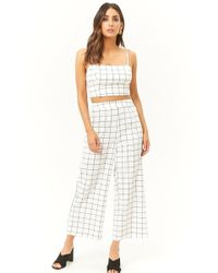 Forever 21 - Grid Print Cropped Cami & Pants Set - Lyst