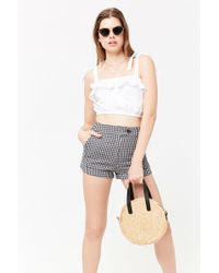 Forever 21 - Gingham Cuffed Shorts - Lyst