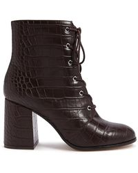Forever 21 - Faux Croc Leather Booties - Lyst