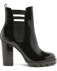 Forever 21 - Varsity-striped Chelsea Boots - Lyst