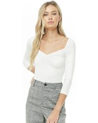 Forever 21 - Women's Ruched Ribbed Top - Lyst
