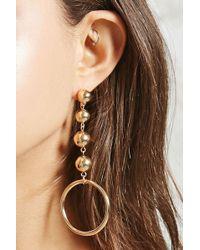 FOREVER21 - Drop Hoop Earrings - Lyst