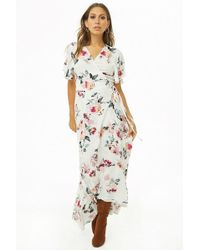 47c351f1180 Lyst - Forever 21 Plus Size Floral Print Dress in Black