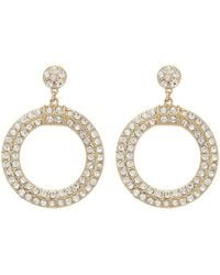 Forever 21 - Rhinestone Cutout Drop Earrings - Lyst