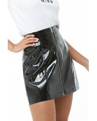 Forever 21 - Zippered Vinyl Mini Skirt - Lyst