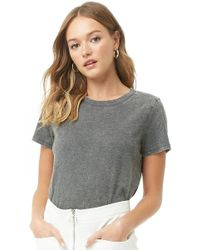 01ceacb1e8d Forever 21 Knit Button-up Shirt in Gray - Lyst