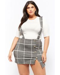 Forever 21 - Women's Plus Size Ribbed Top & Glen Check Skirt Set - Lyst