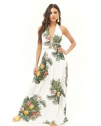 Forever 21 - Tropical Halter Maxi Dress - Lyst