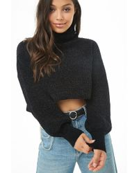 Forever 21 - Cropped Turtleneck Chenille Jumper - Lyst
