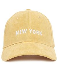Forever 21 - New York Embroidered Corduroy Baseball Hat - Lyst