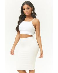 Forever 21 - Ribbed Knit Pencil Skirt - Lyst