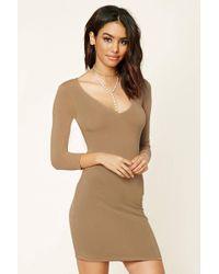 Forever 21 | V-neck Bodycon Dress | Lyst