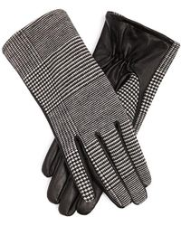 Forever 21 - Glen Plaid Faux Leather Gloves - Lyst