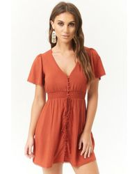 Forever 21 - Button-front Mini Dress - Lyst