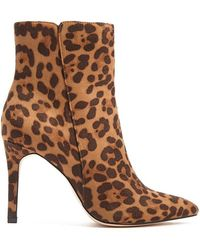 Forever 21 - Faux Suede Leopard Print Ankle Boots - Lyst