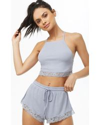 Forever 21 - Ribbed Lace-trim Lingerie Set - Lyst