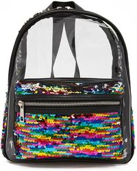 Forever 21 - Rainbow Sequin Transparent Backpack - Lyst