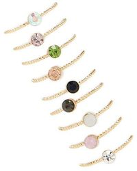 Forever 21 - Colored Rhinestone Ring Set - Lyst