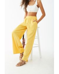 Forever 21 - Women's Wide-leg Linen Pants - Lyst