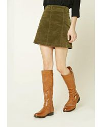 FOREVER21 - Knee-high Faux Leather Boots - Lyst