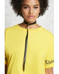 Forever 21 - Faux Leather Tie Choker - Lyst